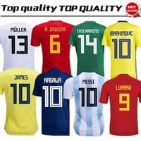 Wholesale Football Mexico - 2018 World Cup Home Shirt Spain Argentina Japan Colombia Belgium Russia Mexico Sweden Soccer Jerseys Germany Football Uniforms