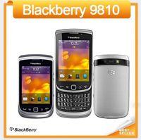 desbloquear celular qwerty venda por atacado-Desbloqueado original 9810 BlackBerry telefone ROM 8 GB 3G GPS WIFI 5MP JAVA QWERTY teclado remodelado celular