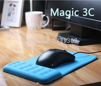 Wholesale wrist support for mouse resale online - NEW Square Massage Mouse Pad Comfort Wrist Gel Thicken Support For Optical Trackball Mat Mice Pad