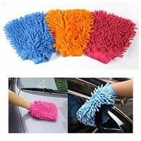 Wholesale Microfiber Face Cleaning Glove - New Hot Sale Double-faced Household Assistant Microfiber Chenille Gloves Car Wash Glove Cleaning Cloth