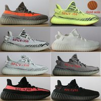 Wholesale Outdoor Waterproof Bags - 2018 NEW Best quality 350 V2 boost beluga 2.0 Semi Frozen Blue Tint triple white Zebra Kanye West Sneakers (Keychain+Socks+Bag+Receipt+Box)