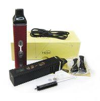 Wholesale Ecig Lcd - Authentic Titan 2 kit Dry herbal Vaporizer E cigarette Burn dry herbs Vaporizer pen 2200mAh lcd display Titan II vapor HEBE Ecig VS titan 1