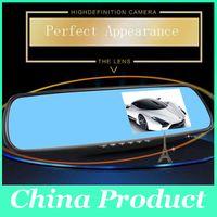"Wholesale Rear Front Camera Dvr Car - HD 4.3"" LCD Dual Lens Video Dash Cam Recorder Car Camera DVR 3 In 1 Rearview Mirror+Front Car DVR+Rear view Camera 010229"