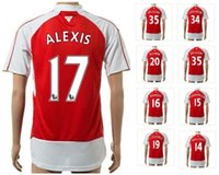 Wholesale Cheap Soccer Balls - Wholesale Customized 2015 New Outdoors Thai Quality 16 RAMSEY Soccer Jerseys Shirts,cheap Discount 17 ALEXIS Athletic balls Tops Soccer Wear