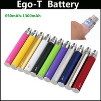 Wholesale ego e cigarette ce battery - Ego-T E-Cigarette Battery 650-1300mAh Ego Electronic Cigarette Battery for EGO-T EGO Atomizer CE 4 battery vs ego-C ego-K CE4 E cig battery