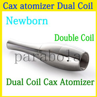 doppelspule cartomizer großhandel-Doppelte Wachsspulen für Kanonen-Zerstäuberzerstäuber Vape Doppelspule Doppelspule DCT Cax-Öl Keramikstabwachs Glasmetallvase Cartomizer-Verdampfer