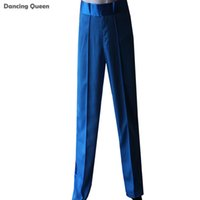 Wholesale Mens Black Spandex Pants - Latin Dance Pants Men Boy Blue Yellow Red Black Mens Ballroom Dance Pants Cha Cha Rumba Samba Pant Dancewear ACCEPT SIZE CUSTOM