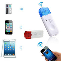 Wholesale Kit Mains - kit main libre voiture real car 2015 gofuly amazing usb wireless handsfree bluetooth audio music receiver adapter for iphone 4 5 mp4 hot