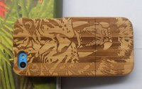 Wholesale Tiger Wood Carvings - Free Shipping Fashion New Carved Design Genuine Real Wood Wooden Bamboo Case Cover For Apple iPhone 5C Tiger Design on Bamboo!