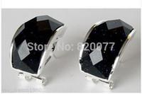 Wholesale Sterling Silver Earring Hooks Solid - pair earrings quartz watch sterling jewelry Silver hook 925 Silver solid glass beads Earring black wholesale [