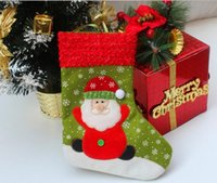 Hot Sale New Year 26cm Height Snowflake Christmas Socks Christmas Gift Packing Decoração Ornamento da árvore Christmas Supplies