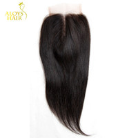 Wholesale Straight Virgin Remi Hair - Virgin Indian Lace Closure Grade 6A Unprocessed Raw Virgin Indian Remy Human Hair Closures Straight Free Middle 3 Part Indian Remi Closure