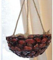 Wholesale Ceramic Wall Baskets - Straw braid vase rattan wall basket flower viewseaborne hanging basket
