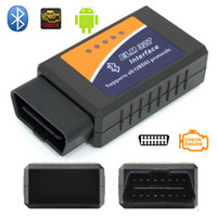 Wholesale Universal Professional Vehicle Diagnostic Tool OBD2 ELM327 Bluetooth Car Diagnostic Scanner Works On Androidb Car Styling