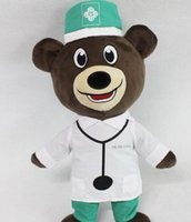 Wholesale Mouse Dog Costume - 2017 new hot cute fashionUniform Bear doll doctor teddy bear plush doll doll costumes good verry likely