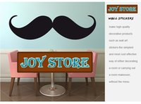Wholesale Product Menu - Vinyl Wall Decal Mustache Wall Decal Menu New products for 2013 mural wallpaper for home wall art 30*110CM Free shipping