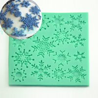 savon flocon de neige achat en gros de-1 pcs Noël flocon de neige Silicone savon moule fondant gâteau sucre artisanat outils de décoration gemme Argile au chocolat cuisson pâtisserie moule