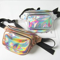 Wholesale Laser Belts - Fashion belt bag women fanny pack men laser universal cell phone belt pouch shiny pocket beach bags waist pack sacoche ceinture
