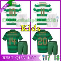 40575770b Soccer Short Polyester TOP Quality 2017 18 Celtic FC Home Away Soccer Jersey  17 18 Celtic