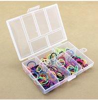 Wholesale Plastic Box Storage For Nails - Empty 6 Compartment Plastic Clear Storage Box For Jewelry Nail Art Container Sundries Tools Organizer wen4652