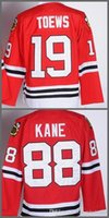 Niños de la Juventud Chicago Jersey 19 Jonathan Toews 88 Patrick Kane Logotipos de bordado cosidos 100% Hockey Jerseys Cheap Red