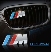 Wholesale Metal Door Window - 3D Metal    M M Power Car Front Grille emblem Chrome Badge 3D metal Logo Emblem For BMW M Badge E36 E30 E34 E46 E39 E60 E90 Z3