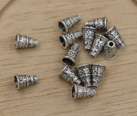 Wholesale Bali Bead Caps Wholesale - Hot ! Antiqued Silver Bali Style Bead End Caps Cones 7mmx7mmx10mm (ab685)