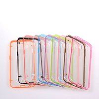 Wholesale Galaxy S4 Clear Hybrid Cases - For Samsung Galaxy S6 G9200 S5 I9600 S4 I9500 S3 Glow in Dark Luminous TPU Gel Bumper Hybrid Hard Clear skin Plastic cover case 10PCS 20PCS