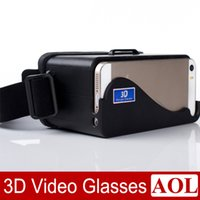 Wholesale Google Eye Glasses - DIY 3D Google Cardboard Glasses Private Cinema Virtual Reality Left and Right Eye 3D Video Suitable Universal for iPhone 5 5s 5c