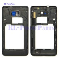 Wholesale Housing For Galaxy S2 - 10pcs lot LCD Middle Plate Housing Frame Bezel Camera Cover For Samsung Galaxy S2 I9100 (black&white)