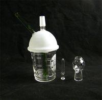 x evol glas großhandel-SANDBLASTED DABUCCINO STARBUCKS GLASBUBBLER OIL RIG Dab Konzentrat-Ölplattform HITMAN GLASS X EVOL GLAS DABUCCINO INSPIRIERT CUP RIG