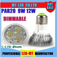 Wholesale Discount Cree Led Bulbs - Free shipping 30% Discount CREE Diammable Par20 Led Lamp 9W 12W E27 GU10 E26 AC85-256V Led Spot Light Spotlight led bulb Par20 LED Lights