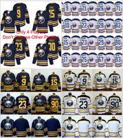 Wholesale Evander Kane - 2018 Winter Classic Buffalo Sabres 15 Jack Eichel 9 Evander Kane 23 Sam Reinhart 90 Ryan O'Reilly OReilly Ice Hockey Jerseys New Blue White