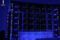 LED Christmas Waterproof Wholesale- 16 Modes LED Flashing Lights String Digital Waterfall Light Hotel Layout Marquee Neon Lights Waterfall 3m 6m 8m x 3m for Holiday