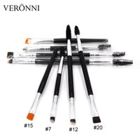Wholesale Eyebrow Coloring - 4 TypeTrend Makeup Eyebrow Combing Coloring Tools Cosmetic beauty Brush 2 In 1 Double Eyebrow Brush+Eyebrow Makup Brush