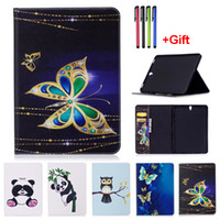 Wholesale Panda Anti Dust - Panda Pattern PU Leather Flip Case For Samsung Galaxy Tab S3 9.7 T820 T825 Tab S2 9.7 T810 T815 9.7 inch Tablet Case Cover With Card Slot