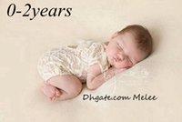 mamelucos del niño lindo petti al por mayor-0-2 años INS Bebé mameluco lleno del cordón del bebé niña linda petti mamelucos Monos Moda infantil Niño Foto Ropa de encaje suave Body S-M-L-XL