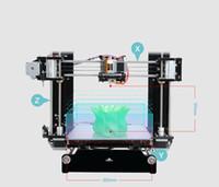 3d extruder großhandel-Heißer Verkauf Reprap Stampante 3D Drucker 3d Prusa i3 Voll Acrylrahmen MK8 Extruder LCD2004 von 2016