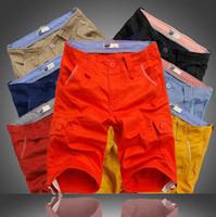 Wholesale Yellow Cargo Shorts For Men - Mens Military Cargo Shorts 2016 summer running shorts for men New Brand Cotton Loose Work bermuda Men shorts Plus Size gym shorts wholesale