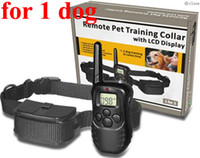 Wholesale Remote Controlled Electric Shock Collar - for 1 dog 300M New LCD REMOTE CONTROL 100LV Shock + Vibra Remote Electric Dog Training Collar
