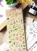 Wholesale Wholesale Pvc Sign Posts - Wholesale-New Creative Vintage Life series Gilding style PVC sticker-Happy Party DIY note label sign Post Wholesale