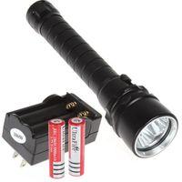 CREE XM-L t6 LED-lampada frontale testa lampada luce per immersioni 30m Impermeabile Batteria