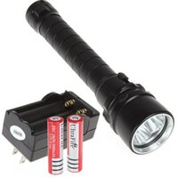 Wholesale Trustfire 3x Dive - 4000 Lumen 30W 3X CREE XML T6 LED Diving Flashlight Torch 100M Underwater Waterproof LED Flash Light + 18650 Battery + charger