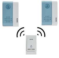 Wholesale Digital Remote Control Doorbell - 2016 NEW Remote Wireless Door Bell -1 Remote Control 2 Wireless digital Receiver Doorbell