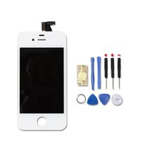 Wholesale Original Touch Iphone 4s - Wholesale-Original Quality LCD Digitizer Touch Screen+LCD Display Frame Assembly +Tools For iphone 4s AT&T