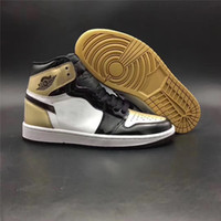 Wholesale Basketball Leather Material - Air Retro 1 High OG NRG Gold Top 3 Authentic Quality Real Leather Original Material Man Basketball Shoes Men And Women Sneakers 7-13