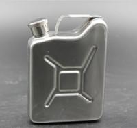 latas de combustible al por mayor-Aceite de 5oz Jerry Can Hip Flask Wine Pot gasolina de gasolina de gasolina de acero inoxidable puede frasco de la cadera
