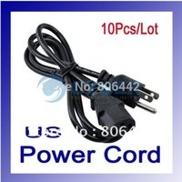 Wholesale Adapter Ac Power Cord Cable - 10Pcs Lot Universal Supply 3-Prong Cable Adapter AC Power Cord US Plug 012