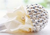 Wholesale Queen Paragraphs - Free shipping Wholesale Wedding Supplie Wedding bouquets queen size high-grade pearl paragraph bride holding flowers D210