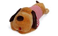 büyük köpek doldurulmuş oyuncaklar toptan satış-Güzel Karikatür Peluş Köpek, Dolması Köpek Oyuncak, Köpek Bolster, Yastık, 3 Renkler, Süper Büyük Boy, Hediye için, Toplama
